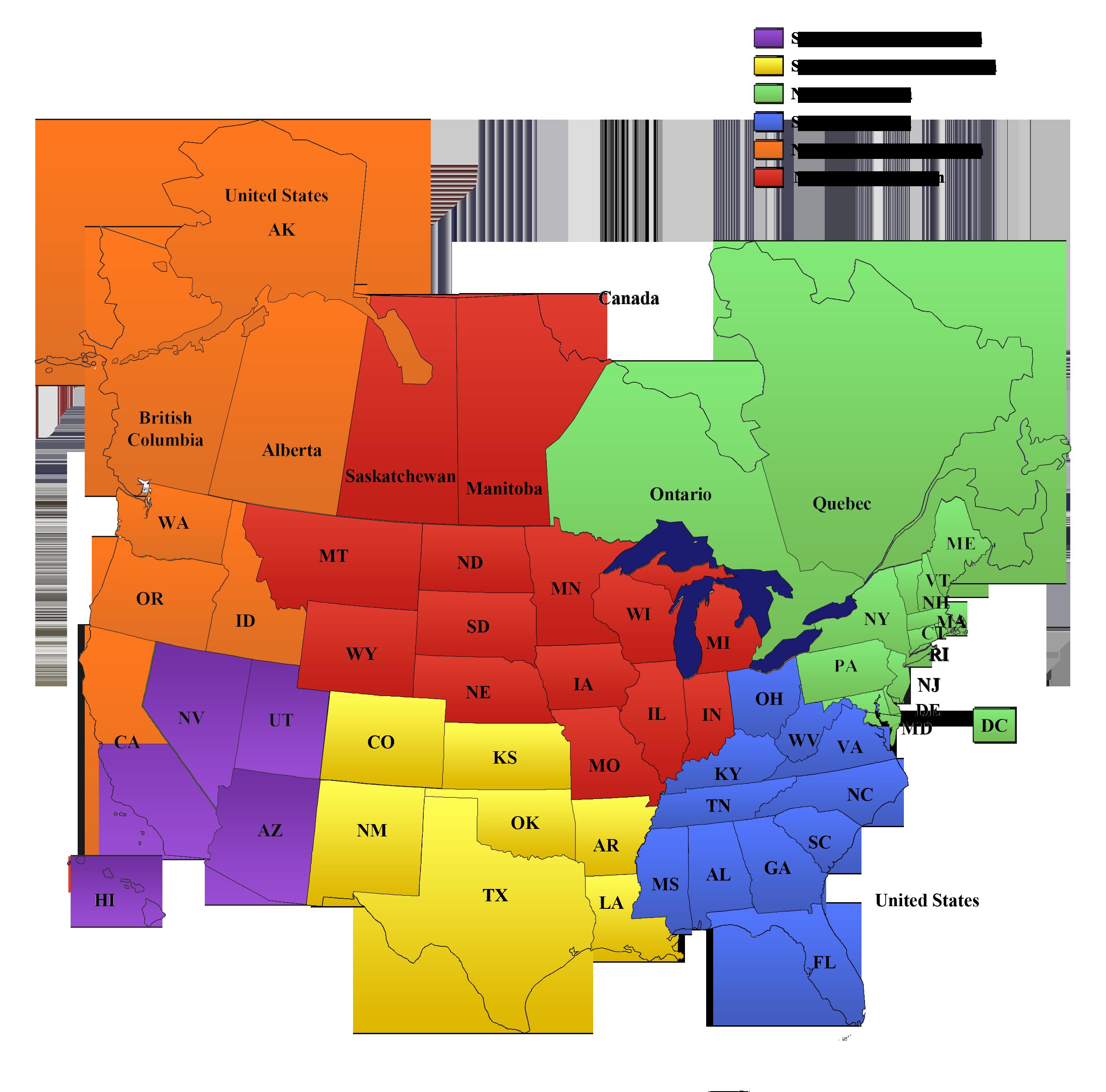 Axon Sales Map 2019